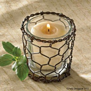 Votive Candle Holder 2 3 4 Dia Home Decor w Glass Insert
