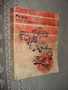 1977 Jeep Cherokee CJ and More Service Manual Original Shop Book RARE