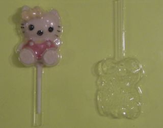 Hello Kitty Large Lollipop Chocolate Soap Candy Mold Brand New Free