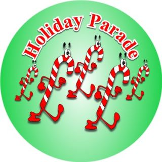 Holiday Parade Patch Girl Boy Christmas Candy Canes Marching
