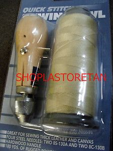 Sewing Awl Kit Hand Stitch Sails Leather Canvas Repair with Needles