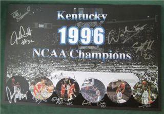 Signed 9x 1996 NCAA Champs University Kentucky Wildcats Basketball