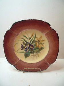Carl Tielsch C T Altwasser Germany Painted Floral Plate