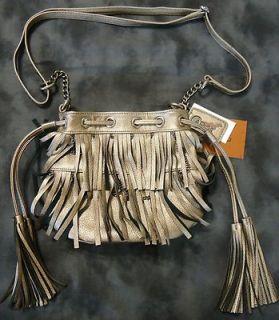 Carlos Santana Women Metallic Mineral Mini Tote Bag Crossbody Purse