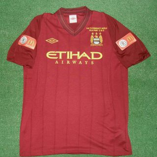 Tevez Match Un Worn Shirt Community Shield 2012