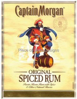 Captain Morgan Edible Image Icing Cake Cupcake Topper