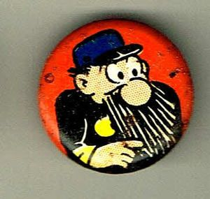 Vintage 7 8 The Captain Pin Comic Pinback Button D911