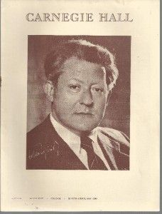 carnegie hall program 1944