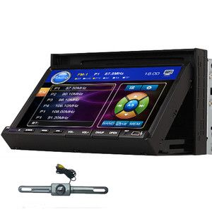 Touch Screen Car Stereo DVD Player Radio USB SD Audio IR Camera