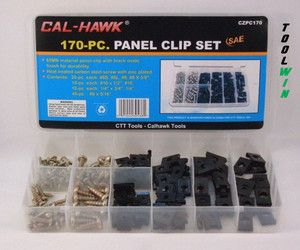 170 Car Door Panel Retaining Clip Screw Assortment Set Interior Trim