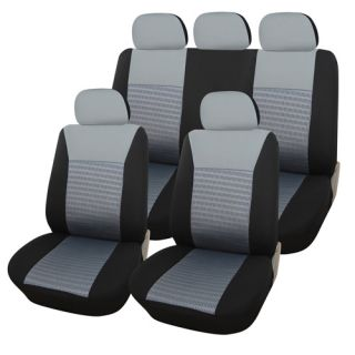 Piece Universal Car Vehicle Seat Cover Set Black and Gray