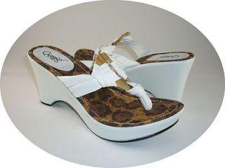 Carlos Santana Margarita Womens Shoes Size 8 5M White Platform