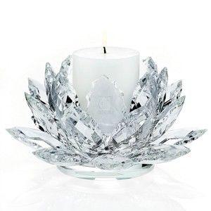 Crystal Lotus Pillar Candle Holder