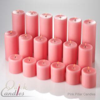 Pillar Candles Unscented Set of 18 3x3 3x6 3x9 Wedding Events