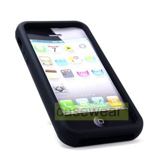 Carbon V2 Double Layer Hard Case Silicone Gel Cover for Apple iPhone 5