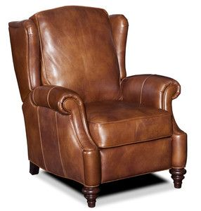 Carmel Brown Leather Recliner Arm Chair SS RC170 087
