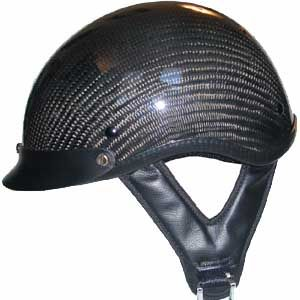 Dot Carbon Look Motorcycle Biker Half Helmet Beanie Shorty Helmets