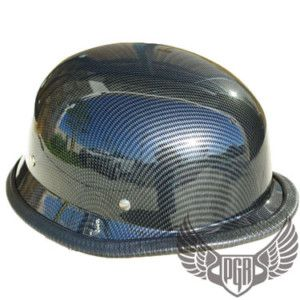 WWII Carbon Fiber German Dot Half Motorcycle Helmet S