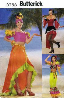 Carmen Miranda Costume Latin Dress Pants Top Skirt Headpiece Sewing