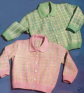 Baby Boys Girls Cardigan Sweater Knitting Pattern 1 2 3