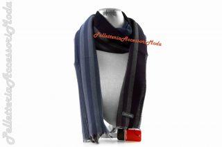 classica elegante uomo PIERRE CARDIN blu MADE IN ITALY pashmina L201