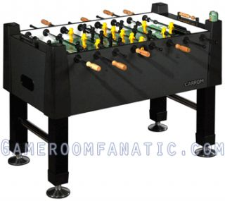 New Black Marble Foosball Game Room Arcade Table Soccer