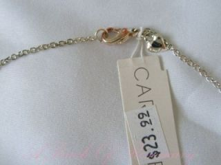 Carolee Designer Necklace with Cats Eye Pendant Signed