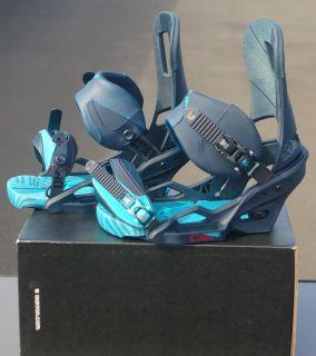 2013 Burton Cartel Est Snowboard Bindings L Blue Collar Brand New $260