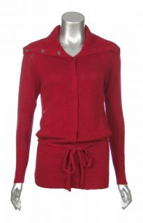 Sutton Studio Womens Silk Cashmere Casual Lounge Anorak Cardigan