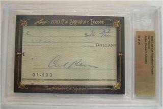 Carl Reiner 2010 Leaf Cut Signature Auto Autograph Signed Card SP BGS