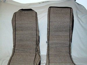 Low Back Bucket Seat Covers Car or Truck No Headrest Covers Tan