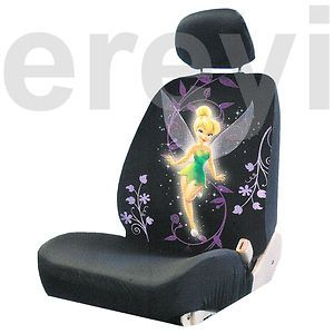 Purple Flower Fairy Car Seat Cover with Headrest Auto Disney