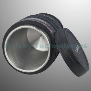 Canon Lens Mug Cup EF Macro 100mm Thermos Stainless Steel Insulated