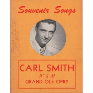 Music Program 1950s WSM Grand Ole Opry Carl Smith Souvenir Book