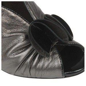 Carlos Santana Classy Dress Pump Sandal Heel Pewter