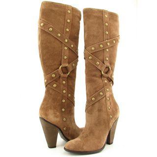 Carlos Santana Deseo Womens Sz 8 Brown Coppertone SDE Boots Knee Shoes