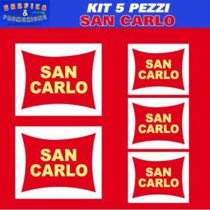 Kit 4 Adesivi Tuning San Carlo Logo A Colori Moto Casco
