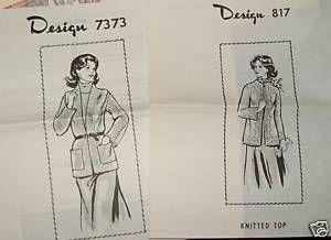 Vintage Knitting Pattern Womens Cardigan Top Sz 8 16