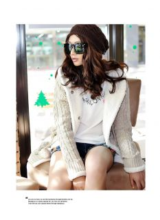 Womens Cardigans High Quality Hooded Sweater Coat Top 504487 5762