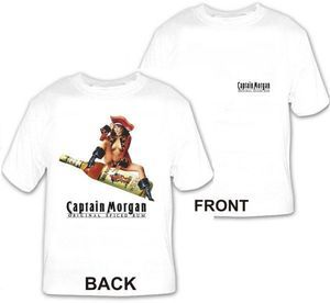 Captain Morgan Pirate Girl Liquor Beer T Shirt New II s M L XL 2XL 3XL