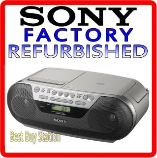 CD Radio Cassette Player Recorder Boombox Stereo Audio Input CFD S05