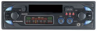 pyramid 200w 2600d am fm car cassette stereo player w