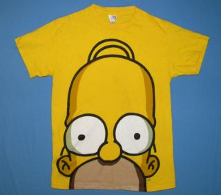 Funny Homer Simpson Face T Shirt Small The Simpsons Cartoon TV