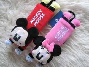 Mickey Mouse with Minnie Car Seat Belt Cover Shoulder Pad
