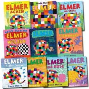 Elmer The Elephant Collection 10 Books Set McKee New
