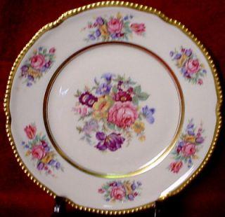 Castleton China Castleton Rose Pattern Dinner Plate