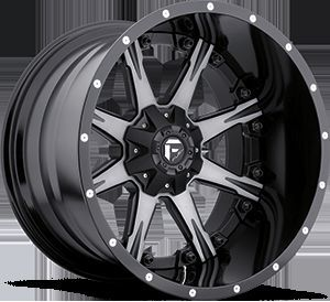 2piece Nutz Black Machined Rims Truck Wheels Falken Tires