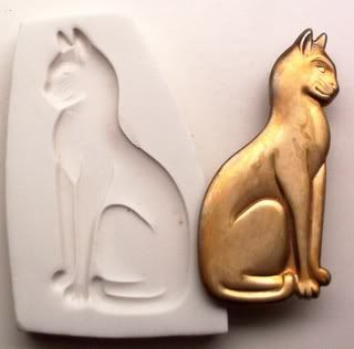 Egyptian Bastet Cat of Egypt CNS Polymer Clay Mold