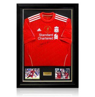 Steven Gerrard Signed Autograph Liverpool Carling Cup Shirt 2012