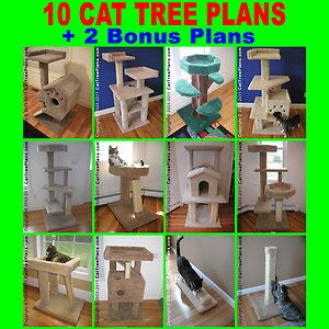 Cat tree plans make 6 furniture condo plan instruction for Cat climber plans